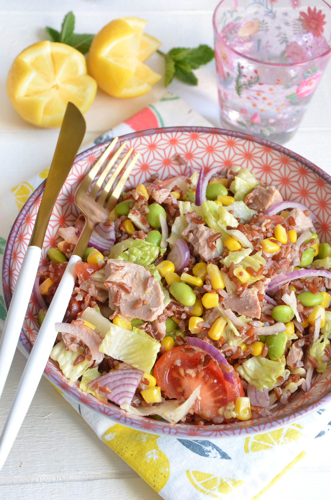 Salade de riz sauvage au thon