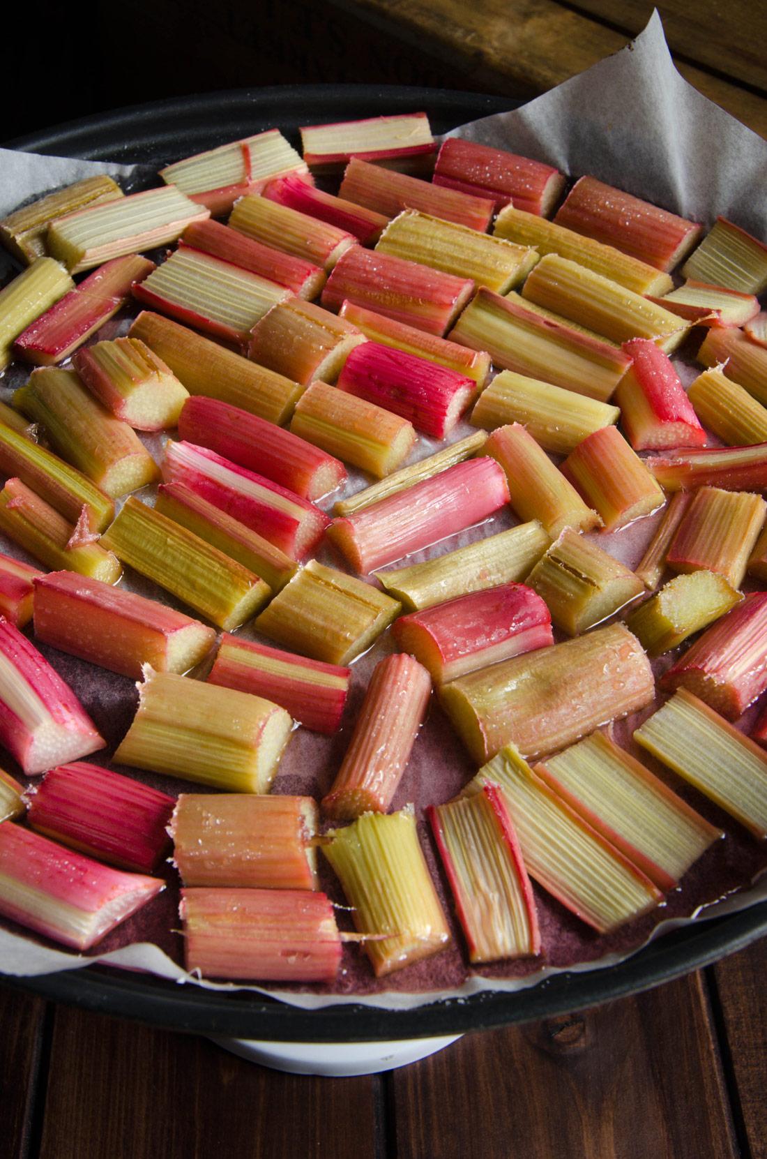 Tronçons de rhubarbe