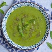 Gaspacho concombre asperges fait maison