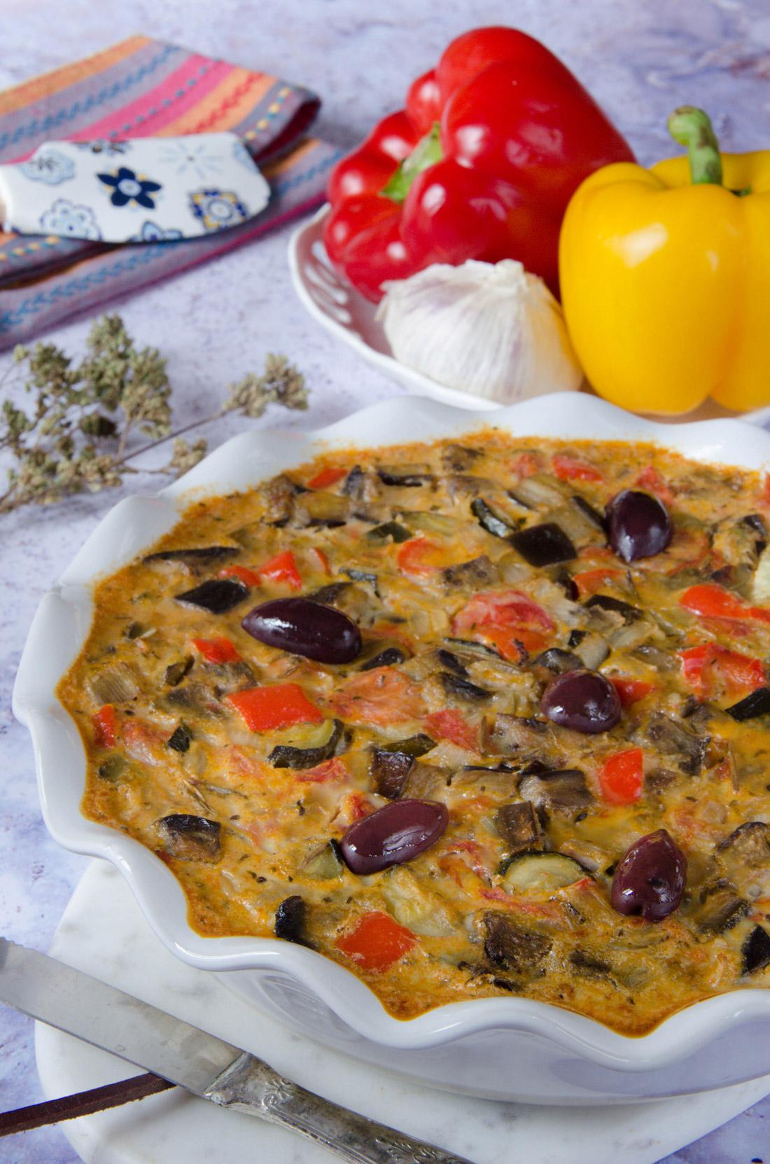 Recette de clafoutis légumes été ratatouille fait maison