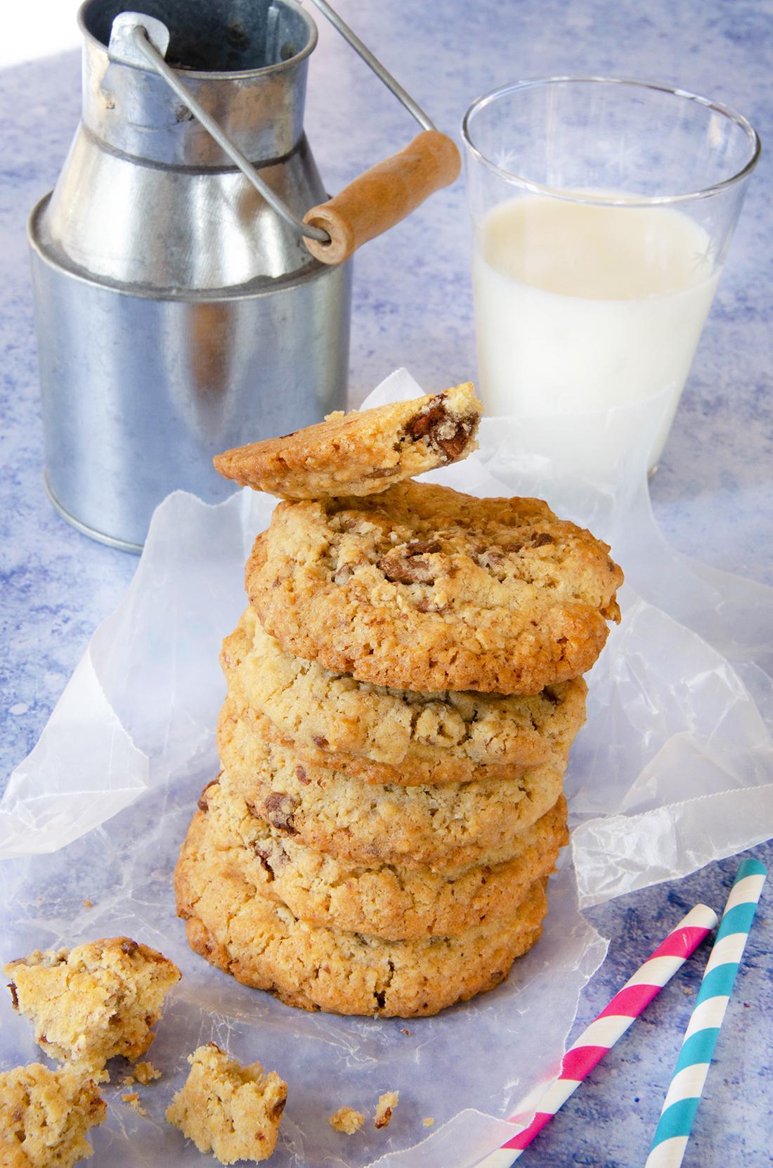 Recette de cookies aux flocons d'avoine et aux pépites de chocolat au lait