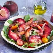 Crevettes sautées tomates pêches
