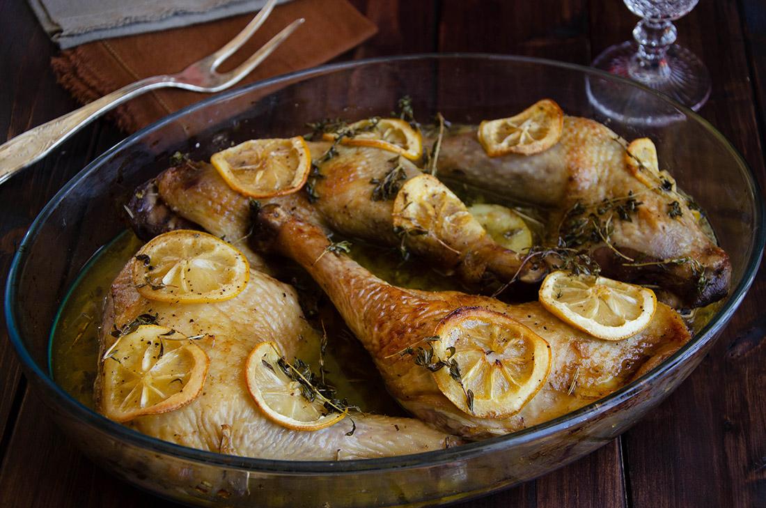 Recette maison de cuisses de poulet au citron