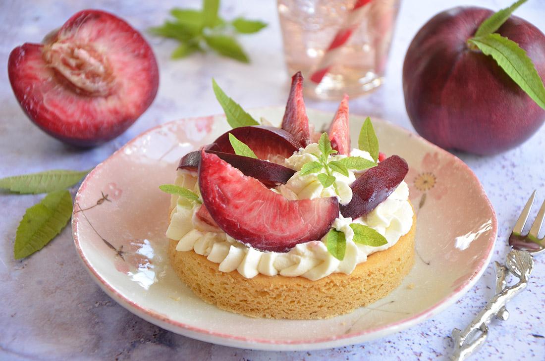 Recette de sablés bretons aux nectarines et à la crème verveine