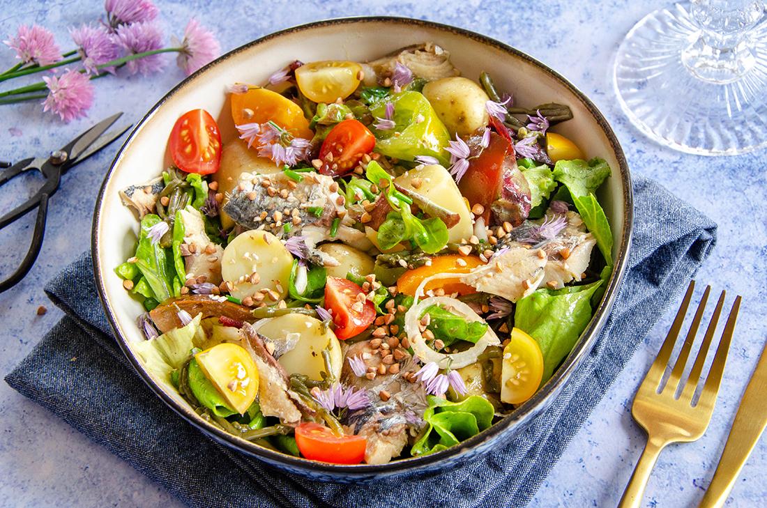 Salade pommes de terre sardines