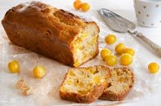 Recette de cake aux mirabelles et au gingembre confit fait maison