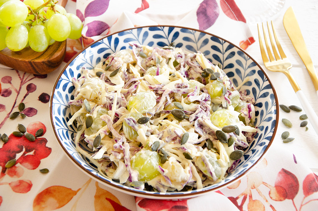 Recette de coleslaw chou et raisins maison
