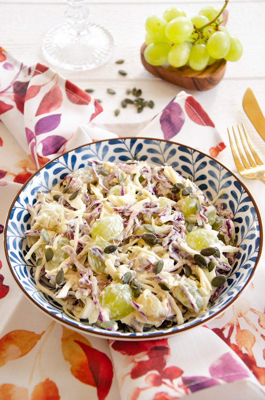 coleslaw chou et raisins maison
