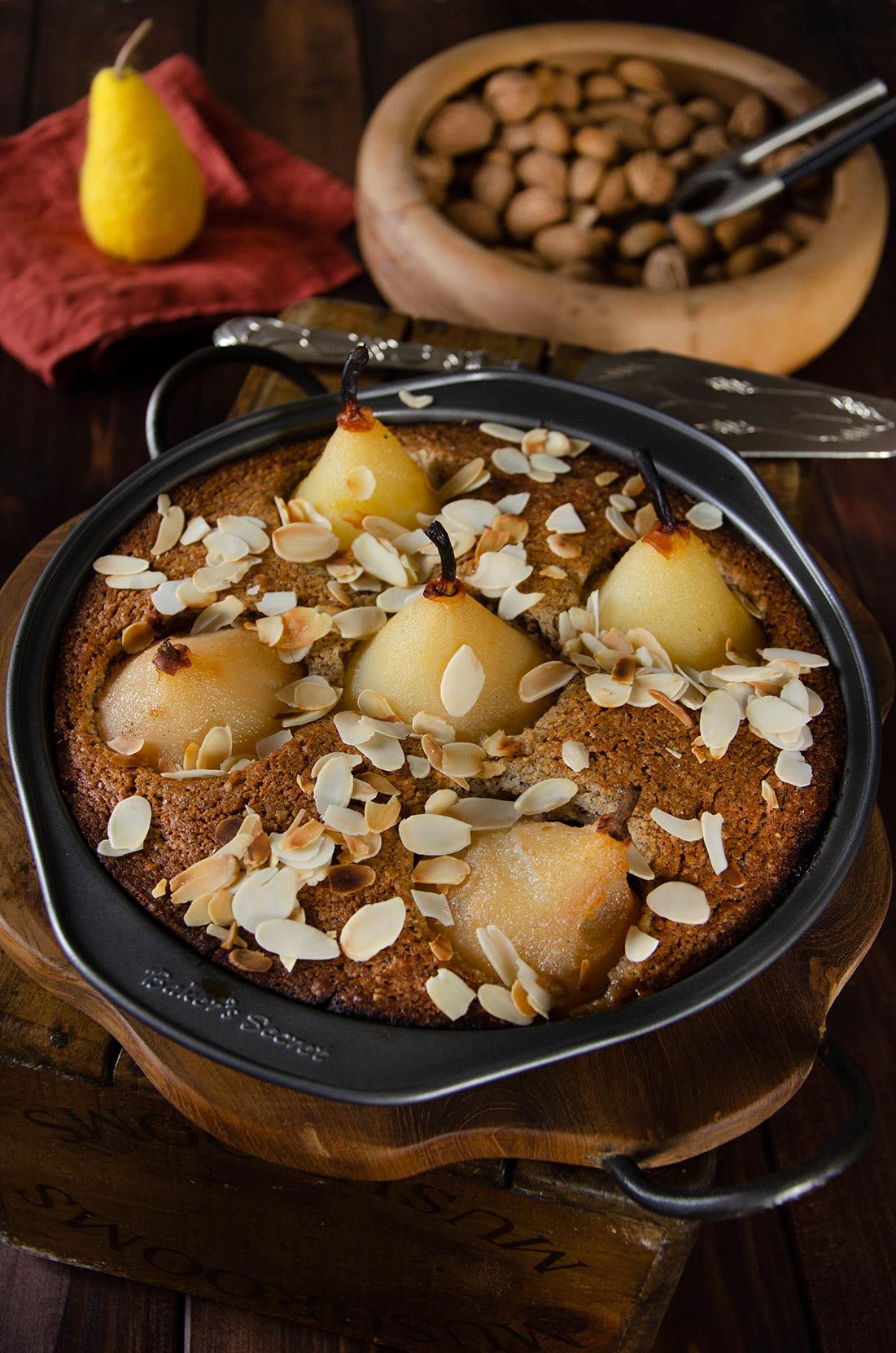 Recette de gâteau noisettes poires au sirop
