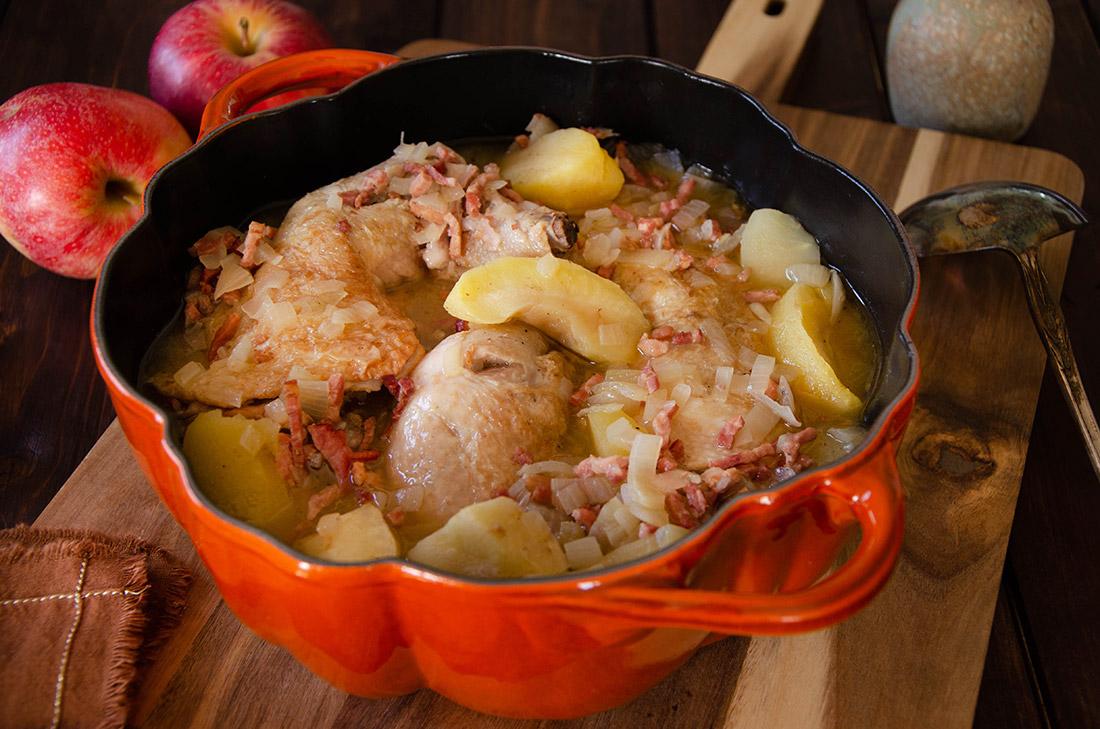 recette maison de cocotte de poulet pommes et cidre