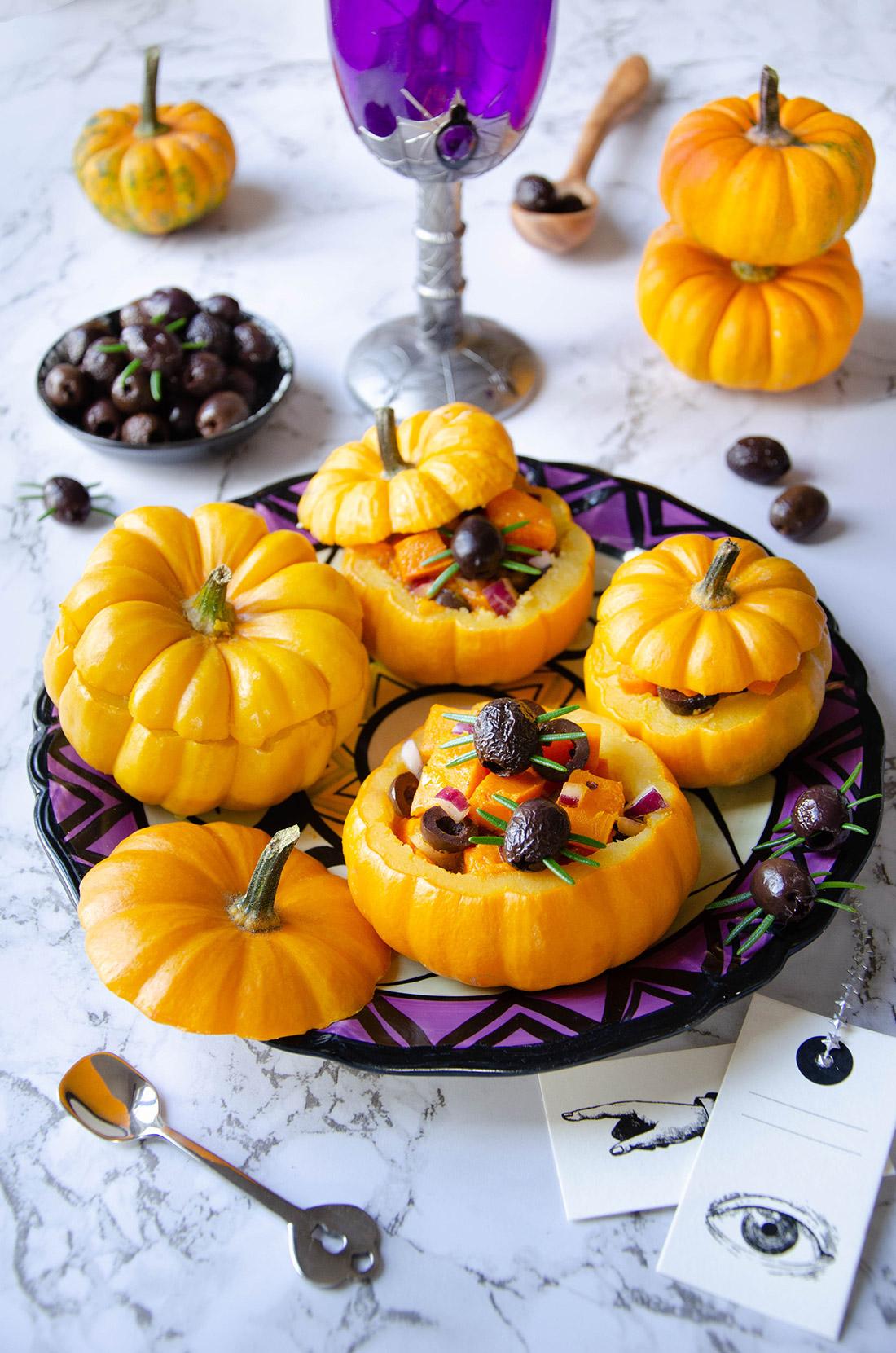 courges jack b little farcies olives orange fait maison