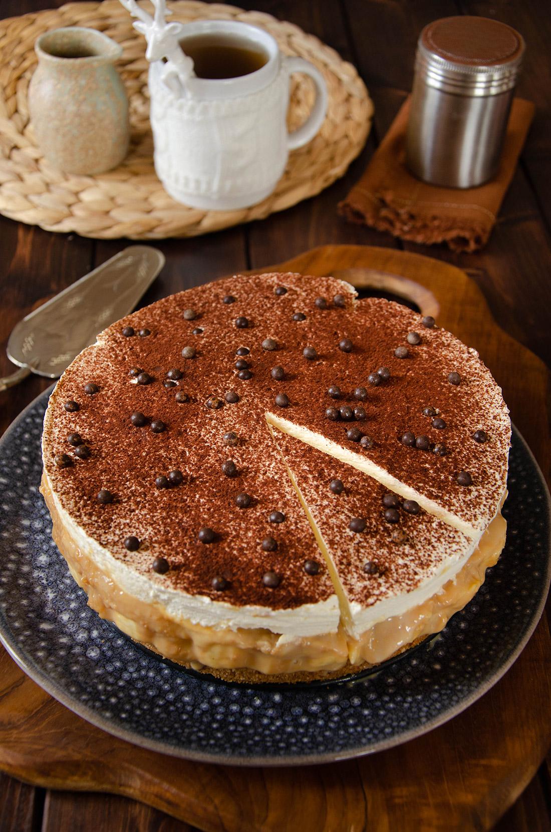 recette de banoffee pie, un mélange de banane caramel et crème fouttée
