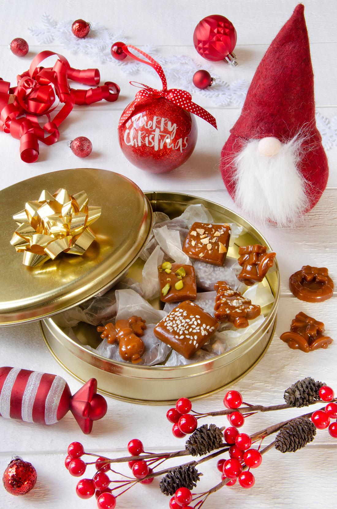 Délicieux caramels beurre salés tendres fait maison, parfaits pour un cadeau gourmand
