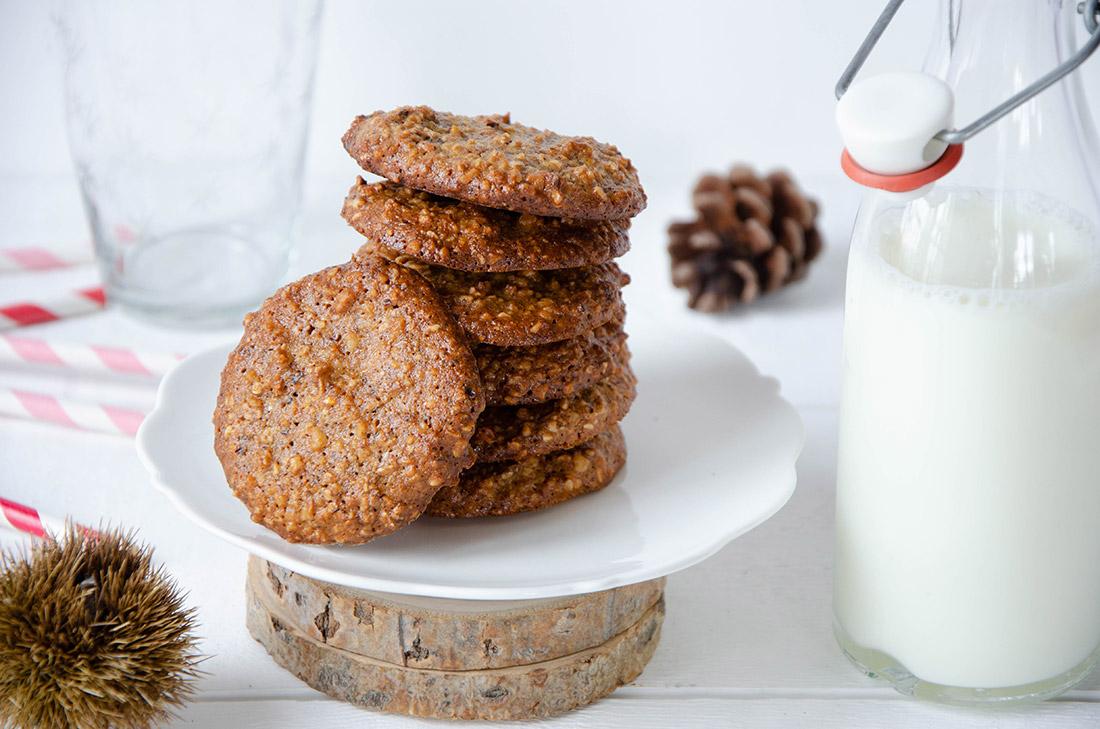 Délicieux cookies pâte d'amandes sarrasin fait maison
