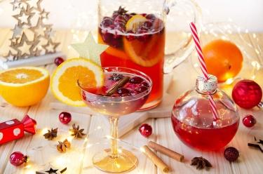 Punch prosecco canneberges, une recette de cocktail originale pour les Fêtes
