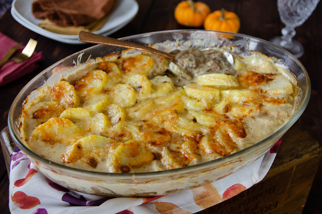 Gratin de pommes de terre aux cèpes fait maison