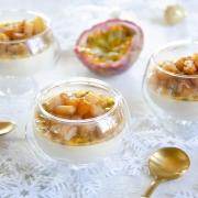 recette panna cotta ananas rôti passion