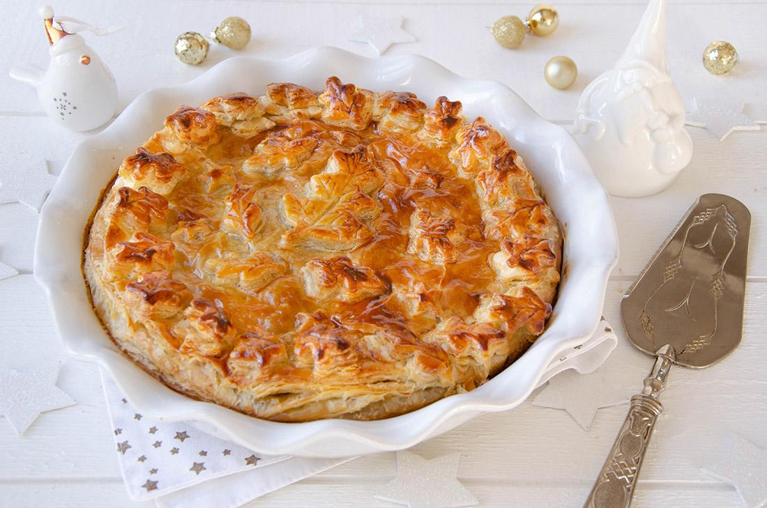 recette tourte confit de canard poires