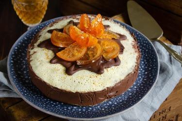 Recette de gâteau de crêpes chocolat orange confite