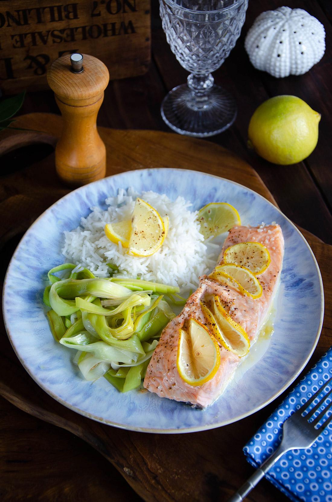 Pavés de saumon à l'érable et au citron