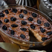 Recette de far breton sarrasin pruneaux raisins