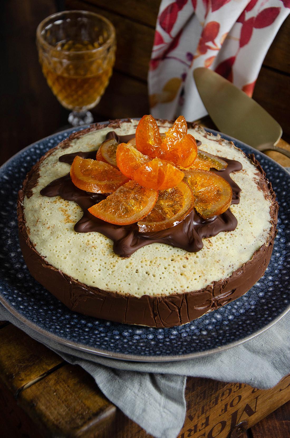 Gâteau de crêpes chocolat orange confite, une délicieuse idée de recette pour la Chandeleur