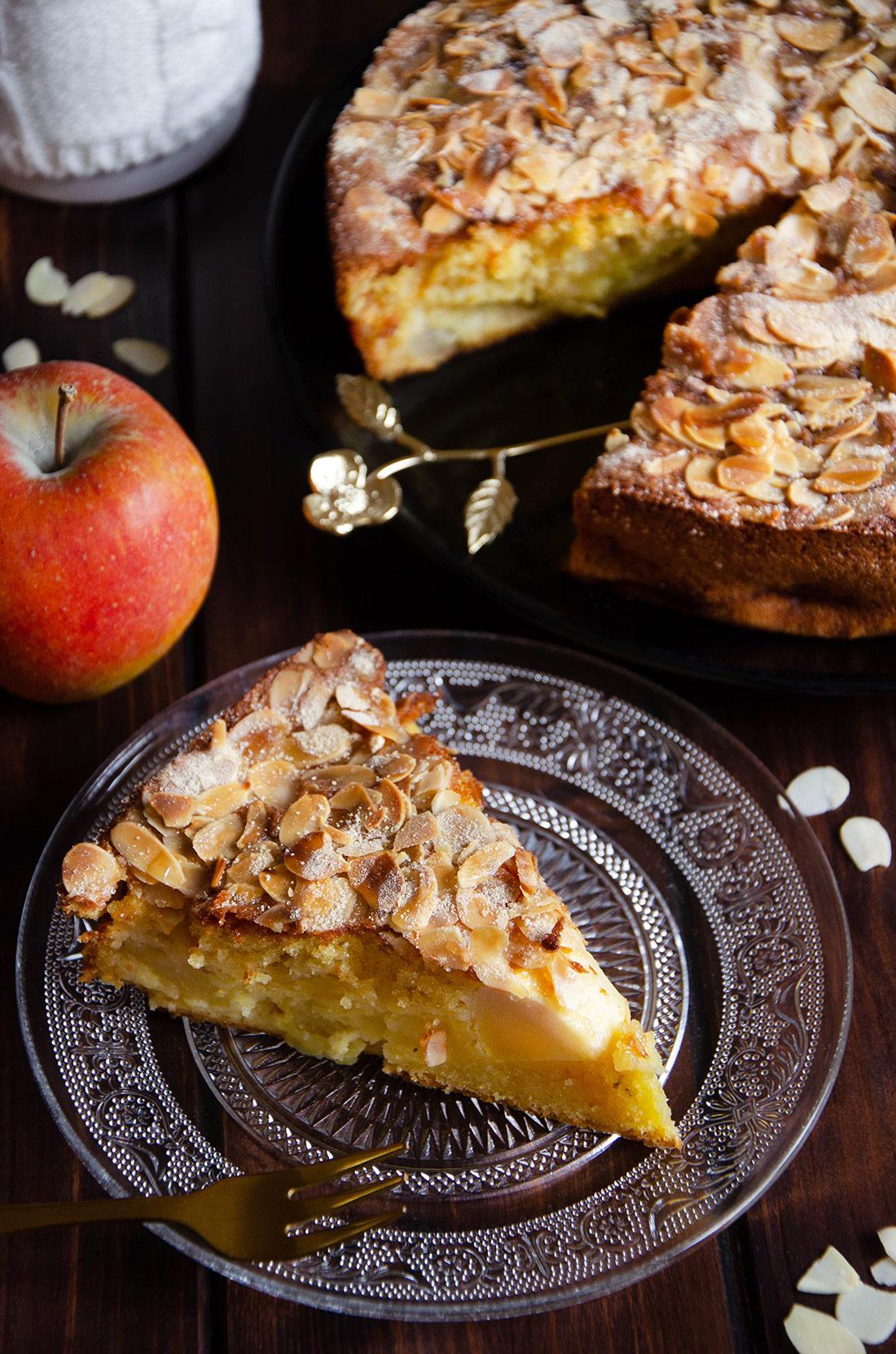 Recette de gâteau moelleux pommes amandes fait maison