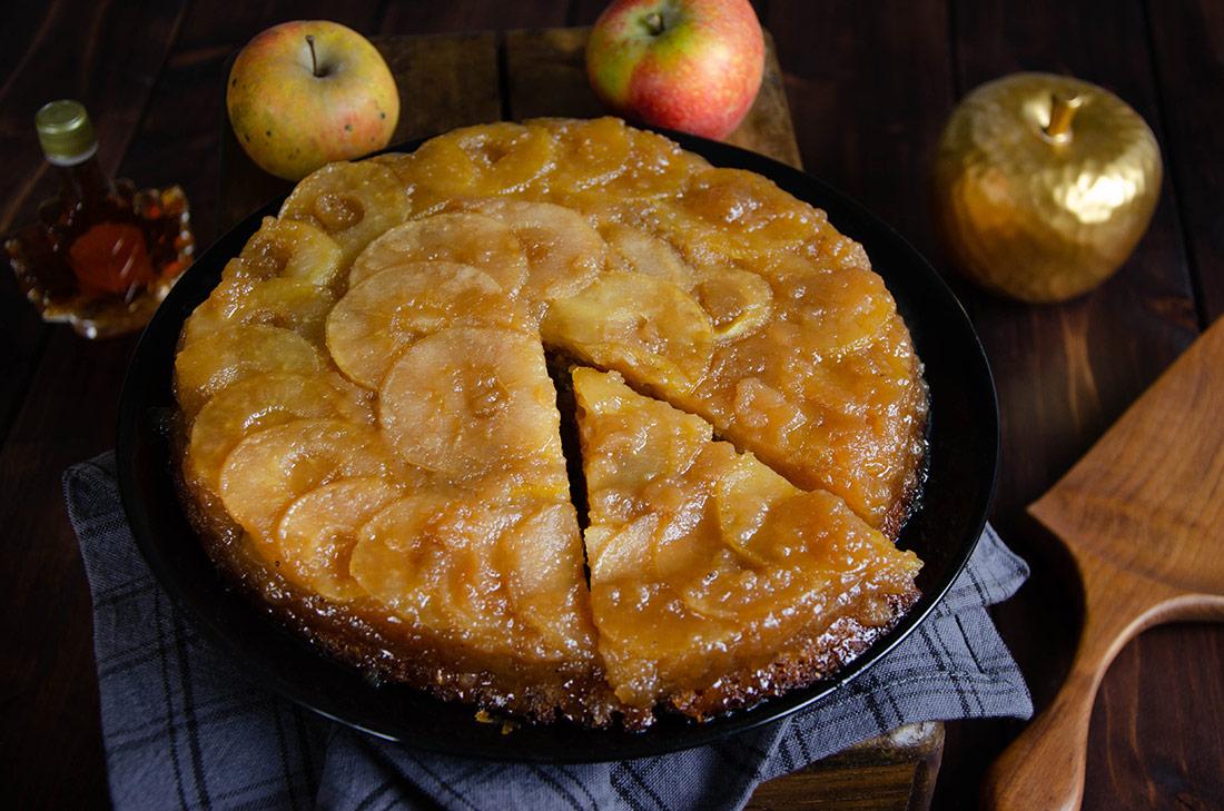 Recette de gâteau renversé pommes érable