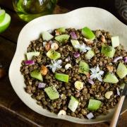 Recette salade lentilles curry fruits