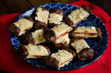 Recette de bâtonnets amande chocolat