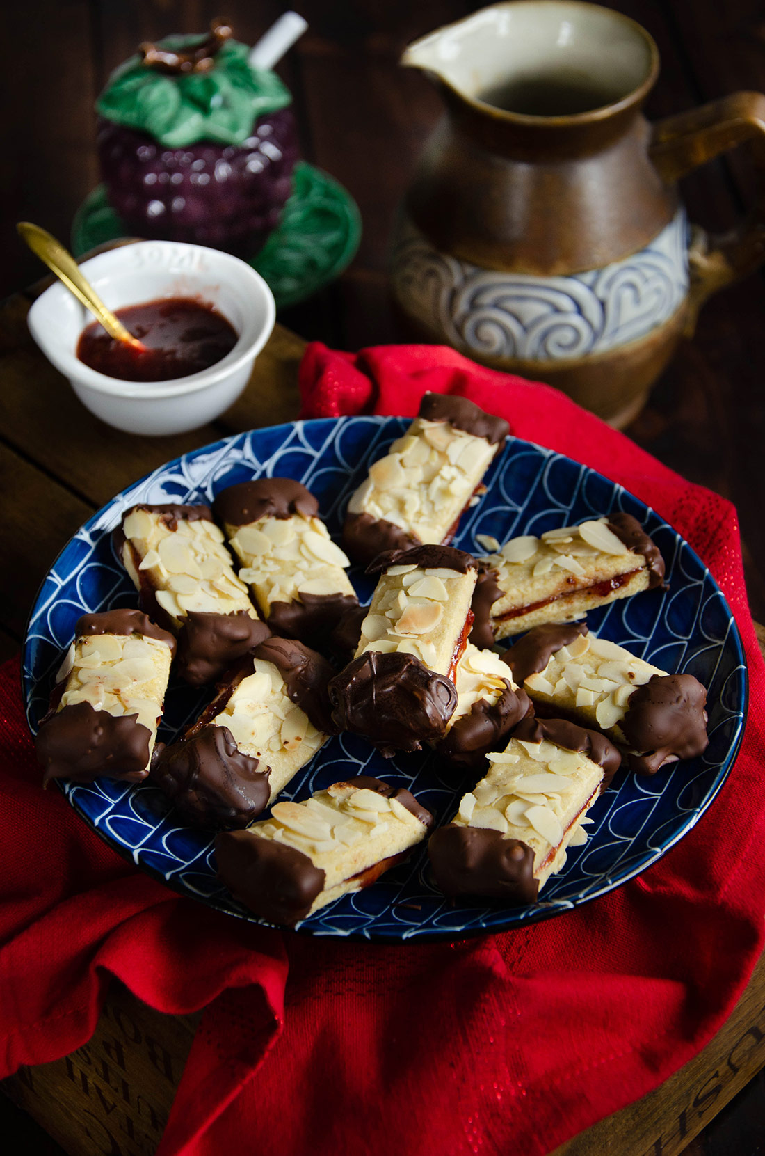 Bâtonnets amande chocolat