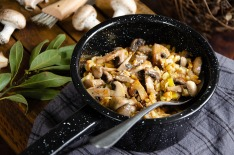 Risotto épeautre champignons