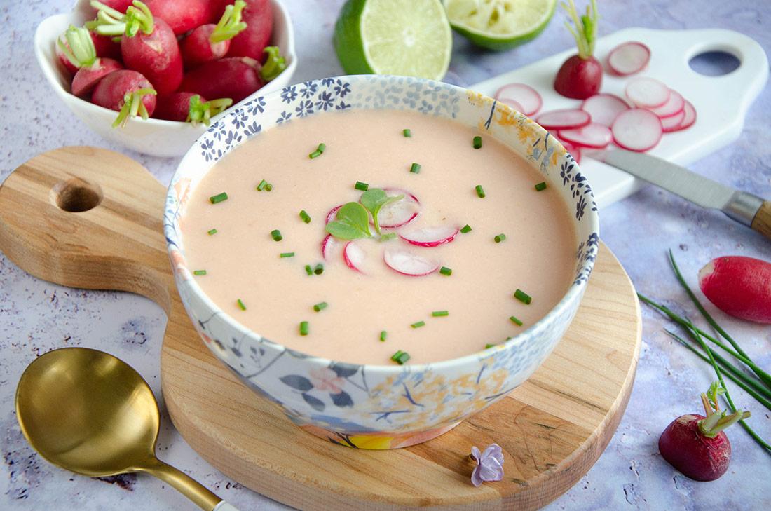 Soupe froide de radis, délicieuse recette d'été