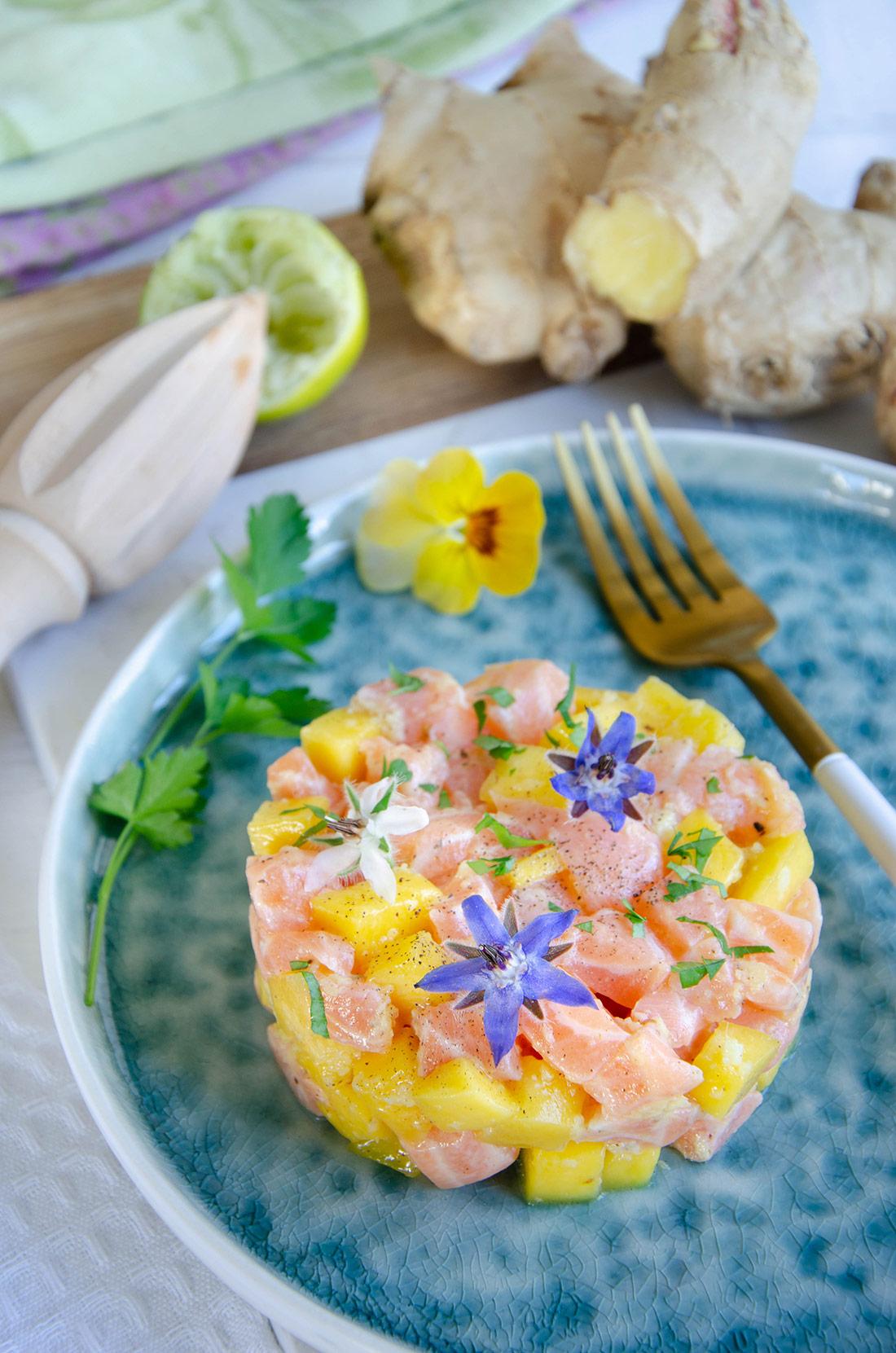Recette de tartare saumon mangue, un plat délicieux et facile à préparer.