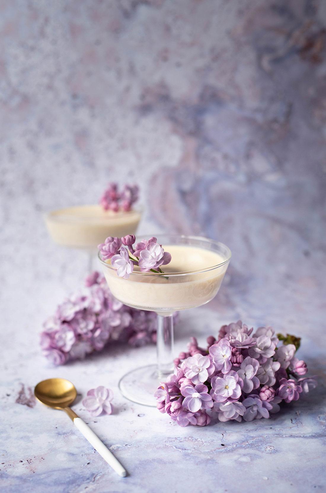 Panna cotta au lilas