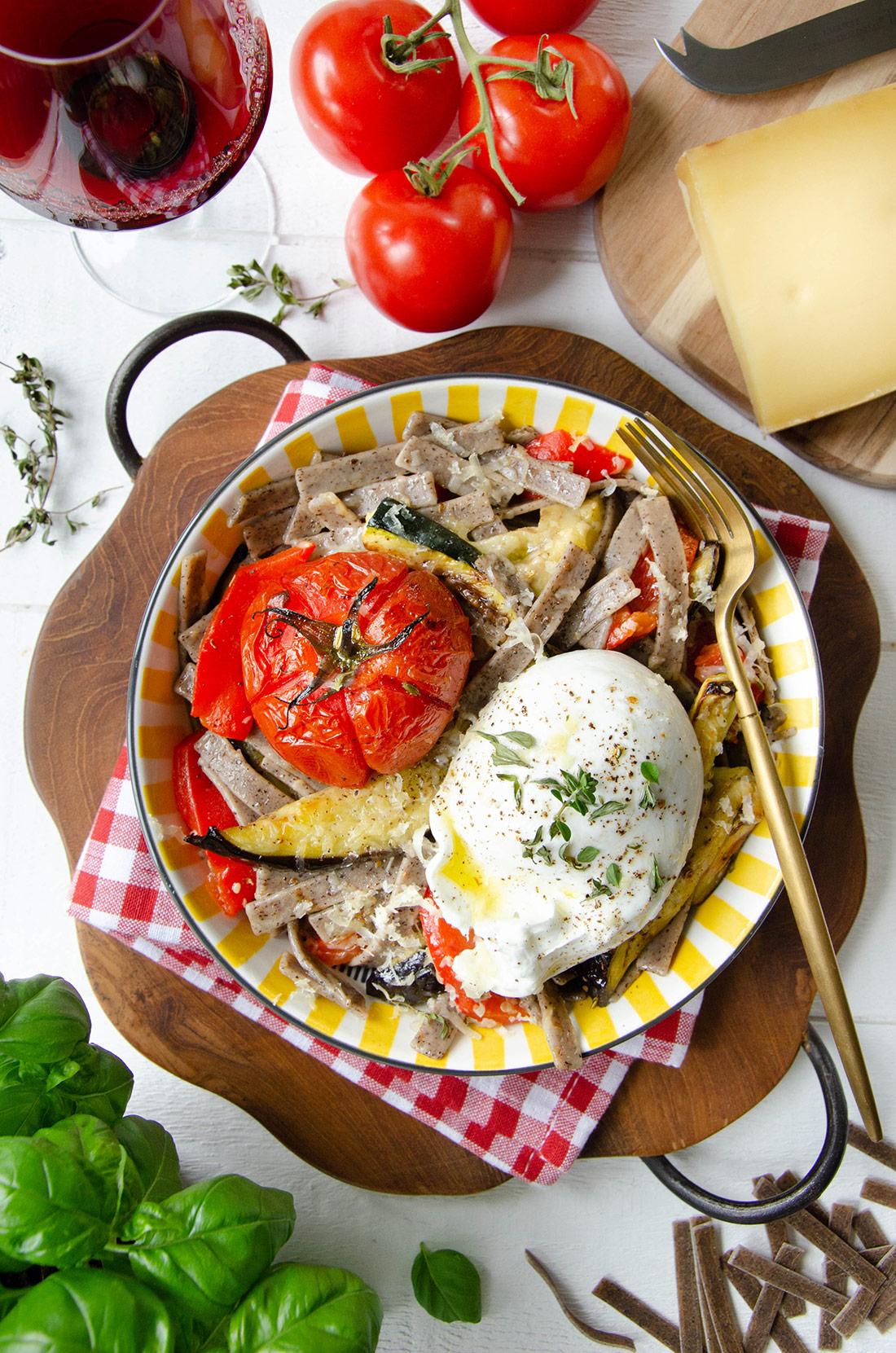 Pizzoccheri légumes et fromage bitto DOP