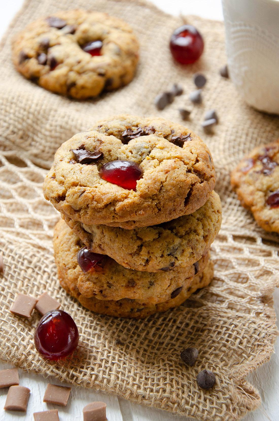 Cookies cerises caramel chocolat