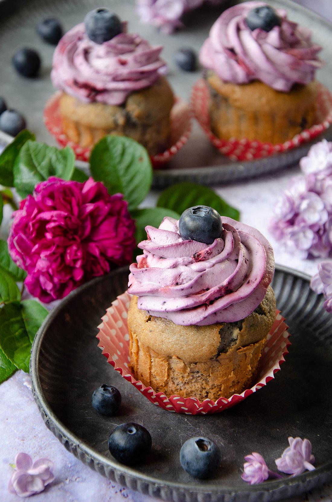Recette de cupcakes à la myrtille