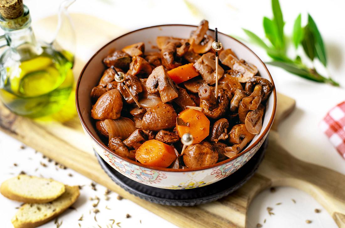 recette de champignons à la grecque