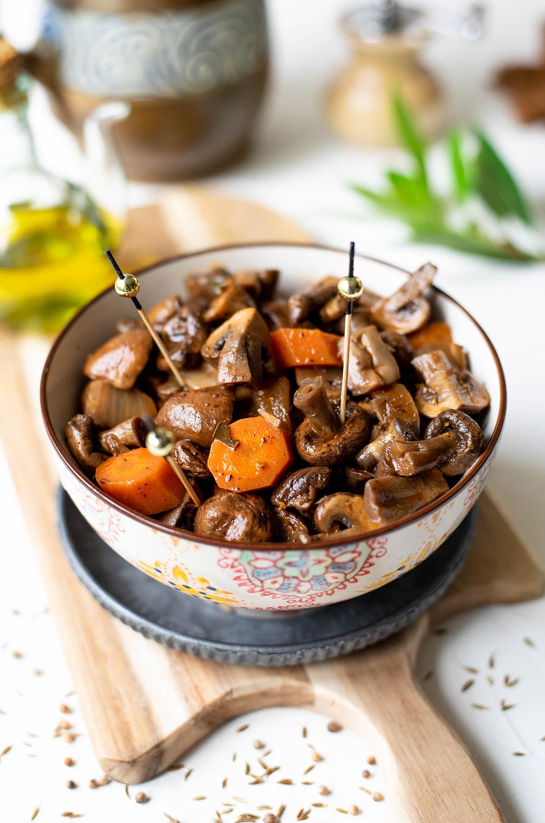 Recette de champignons à la grecque maison