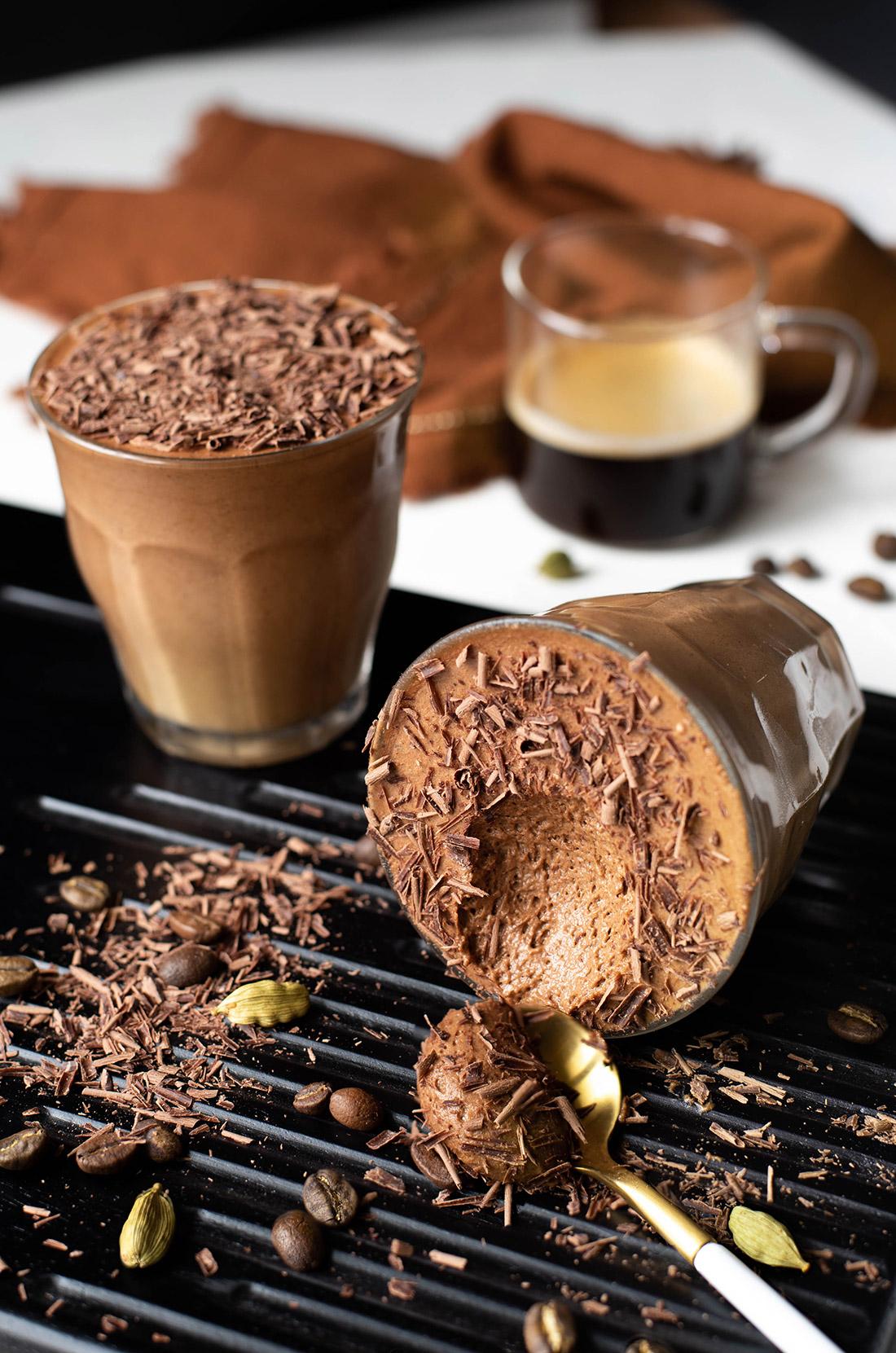 Mousse chocolat épices et café