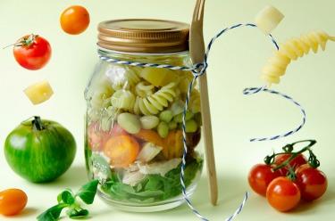 Salad jar poulet