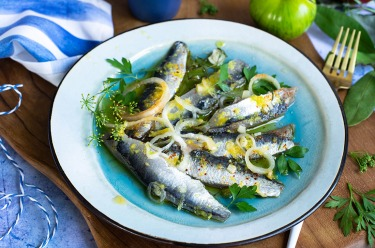 Sardines fraiches marinées