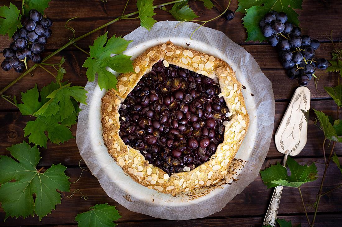 Recette tarte rustique aux raisins