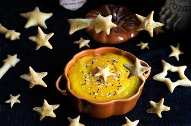 Soupe butternut étoiles feuilletées pour Halloween